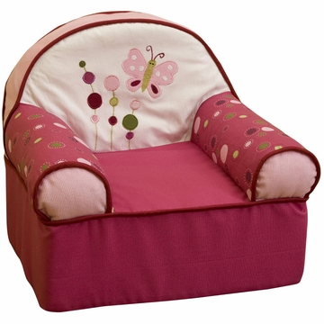 Lambs & Ivy Raspberry Swirl Slipcover Chair