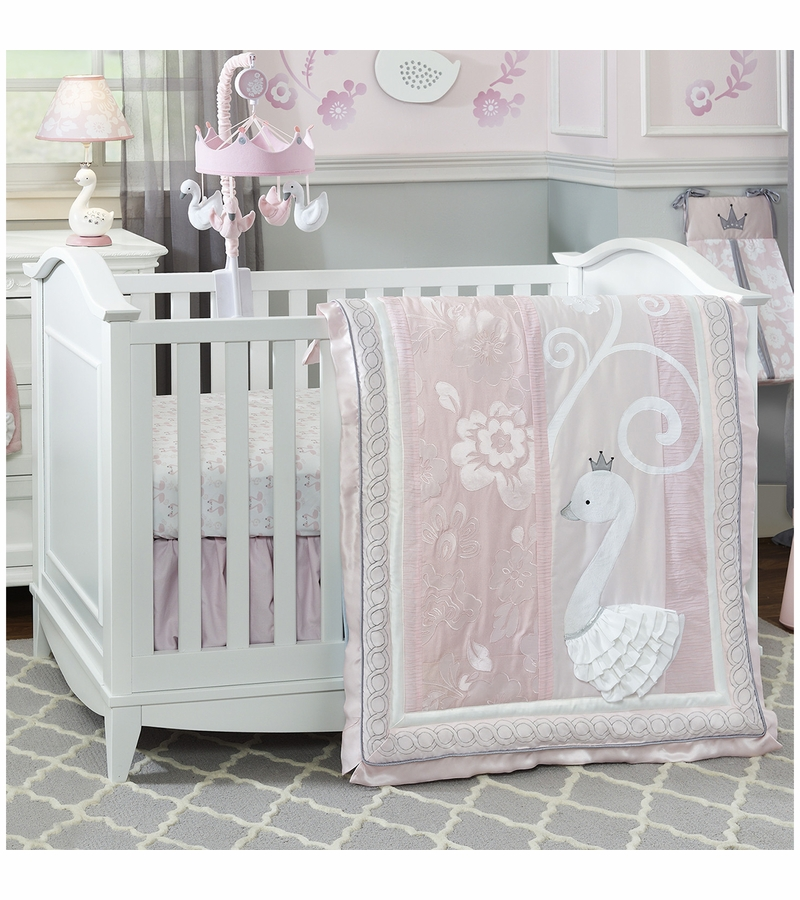 Lambs Amp Ivy Swan Lake 4 Piece Crib Bedding Set