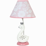 Lambs & Ivy Swan Lake Lamp with Shade & Bulb