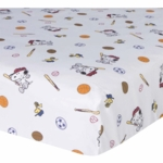 Lambs & Ivy Team Snoopy Fitted Crib Sheet