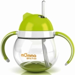 Lansinoh mOmma Straw Cup with Dual Handles - Green