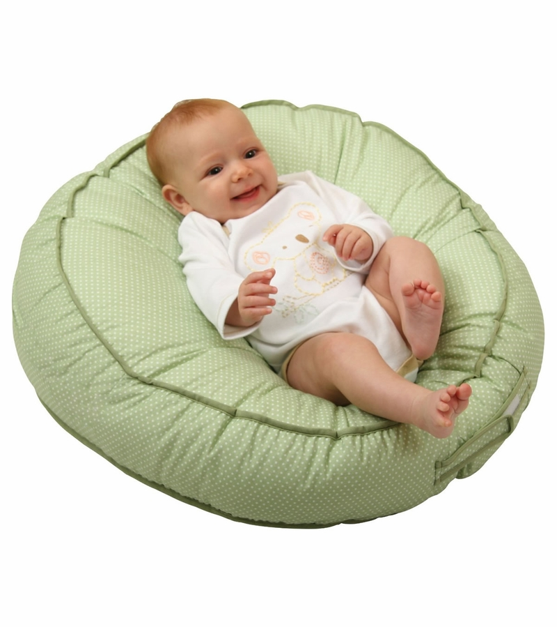Stacking outdoor chairs - Leachco Podster Infant Lounger Green Pindot