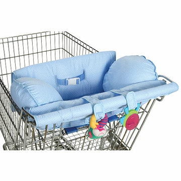 Leachco Prop 'R Shopper Shopping Cart Cover in Blue Pin Dot