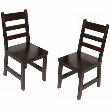 Lipper International Child's Chair Set - Espresso