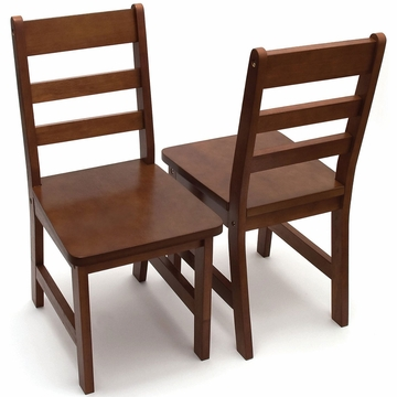 Lipper International Child's Chair Set - Walnut
