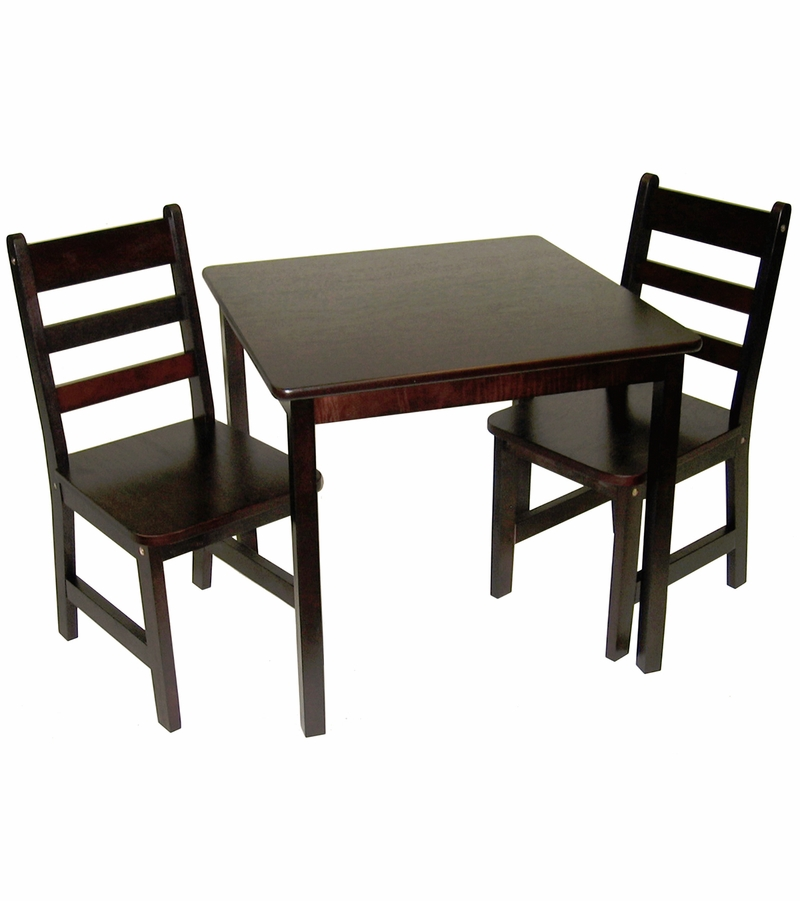 Square Table And Chairs: Lipper International Child's Square Table & Chairs, 3