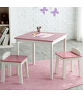 Lipper International Child's Table & Stools Set - Pink/Ivory