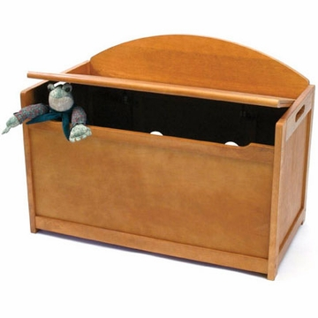 Lipper International Child's Toy Chest in Pecan