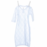 Little Giraffe Link Cotton Gown in Blue - 0 to 6 Months