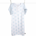 Little Giraffe Lollipop Henley Gown in Blue - 0 to 6 Months