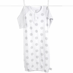 Little Giraffe Lollipop Henley Gown in Silver - 0 to 6 Months