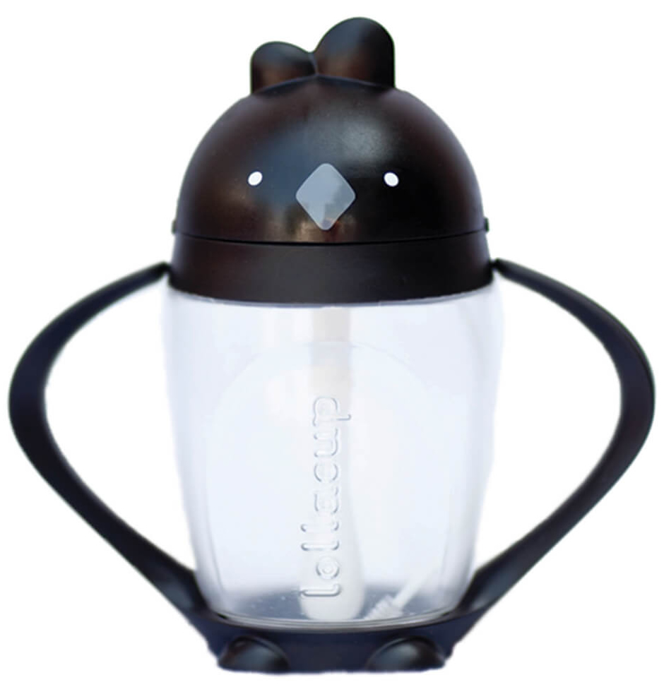 Lollaland Lollacup Infant & Toddler Straw Cup - Black