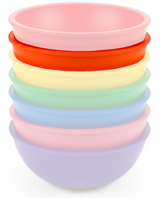 Lollaland Mealtime Bowl - Happy Orange