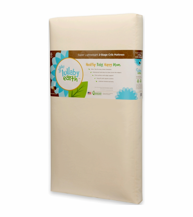Lullaby Earth Super Lightweight 2 In 1 Crib Mattress Le14