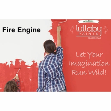 Lullaby Paints Chalkboard Paint - Fire Engine (Quart)