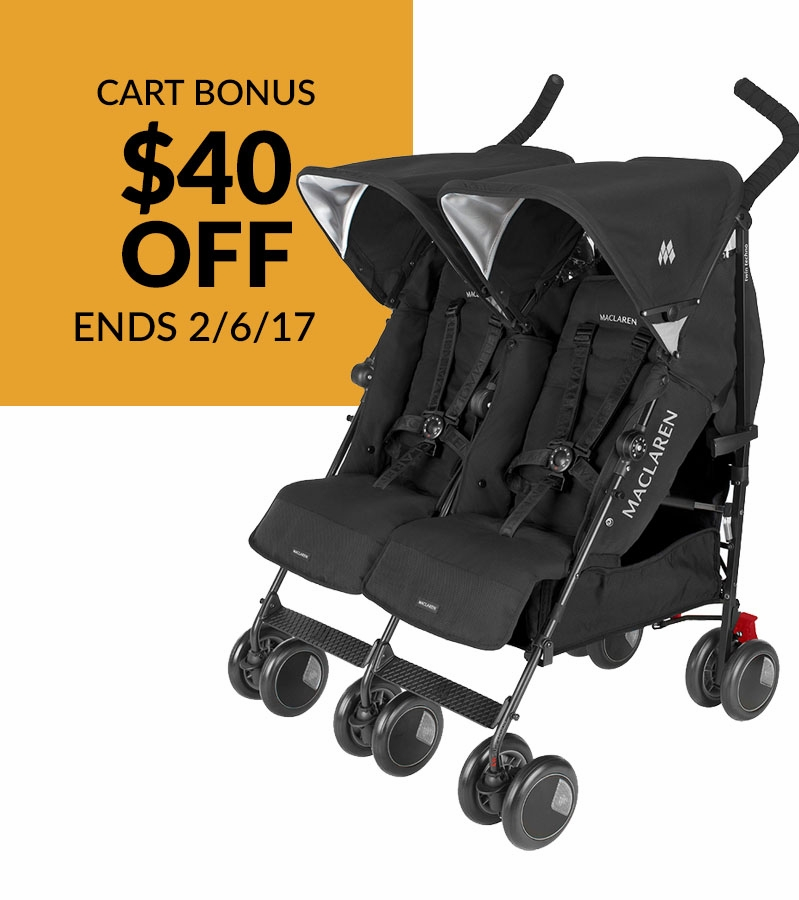 Maclaren 2016 Twin Techno Double Stroller Black
