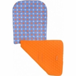 Maclaren Reversible Seat Liner Retro Quilt Blue/Orange