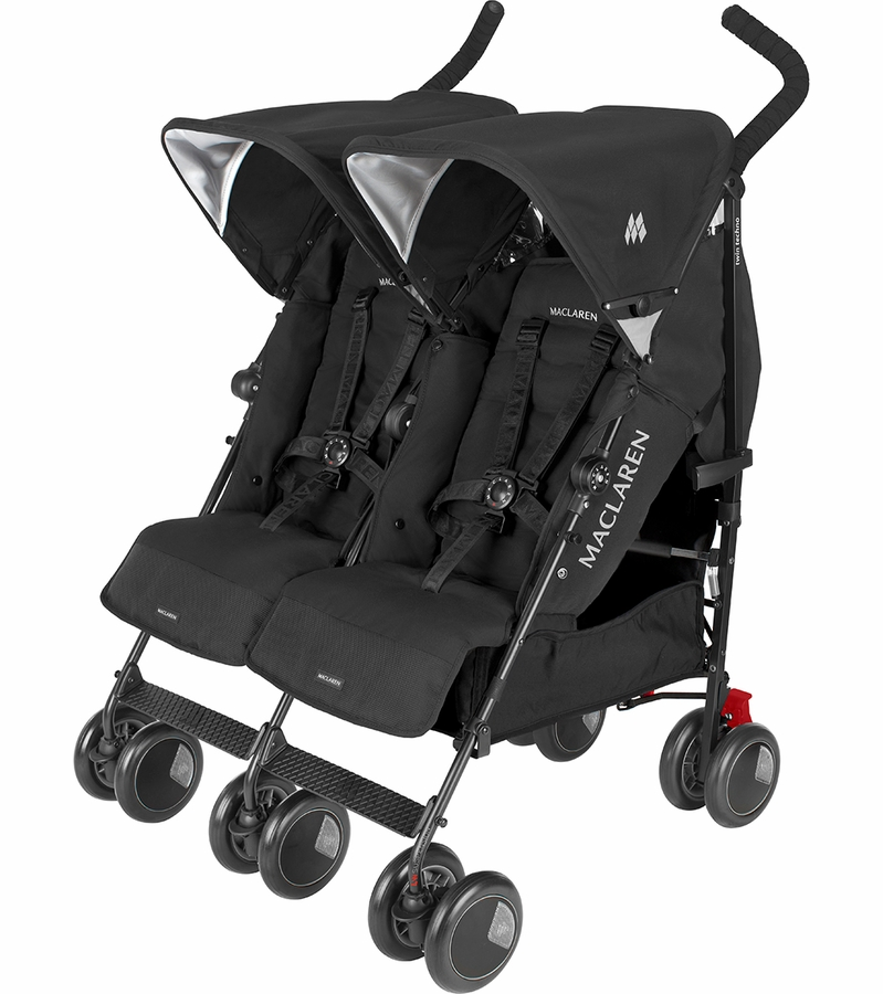 Maclaren Twin Techno Double Stroller Black