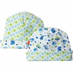 Magnificent Baby Reversible Hat - Boy's Birds / Apple