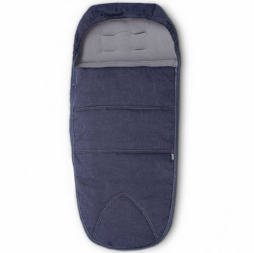 Mamas & Papas Cold Weather Footmuff - Blue Denim