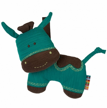 Mamas & Papas The Jumbles Soft Travel Toy - Turquoise Cow