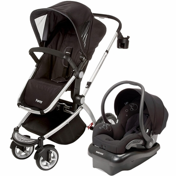 Maxi Cosi Foray LX & Mico AP Travel System - Black