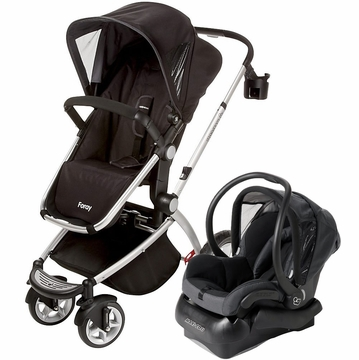 Maxi Cosi Foray LX & Mico Travel System - Total Black