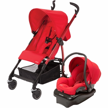 Maxi Cosi Kaia Stroller and Mico AP Car Seat Travel System - Red
