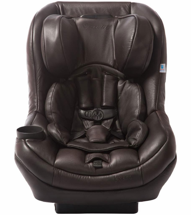 White Leather Infant Car Seat