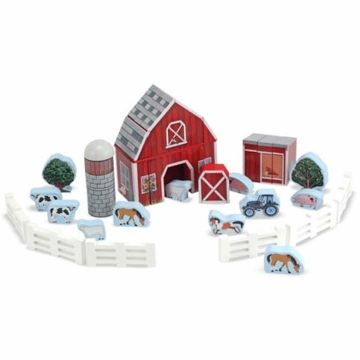 Melissa & Doug Farm Blocks Wooden Play Set
