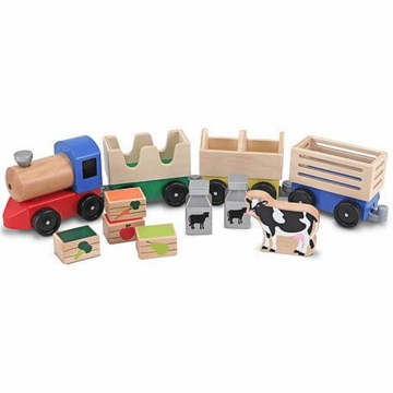 Melissa & Doug Farm Train Toy Set