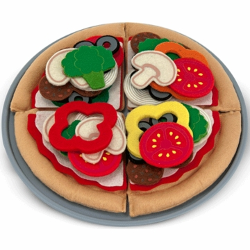 Melissa & Doug Felt Play Food - Pizza Set