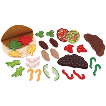 Melissa & Doug Felt Play Food - Taco & Burrito Set