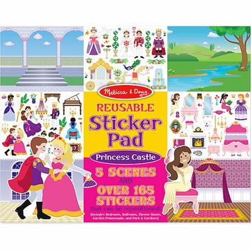 Melissa & Doug Princess Castle Reusable Sticker Pad