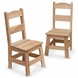 Melissa & Doug Wooden Chairs, Set of 2