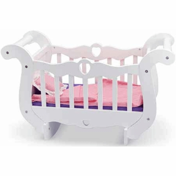 Melissa & Doug Wooden Rocking Doll Crib