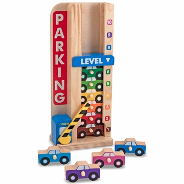 Melissa & Doug Wooden Stack & Count Parking Garage