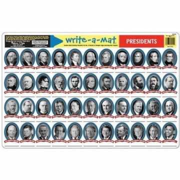 Melissa & Doug Write-a-Mat - Presidents