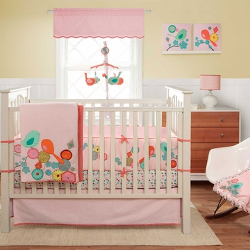 MiGi Modern Blossom 3 Piece Crib Bedding Set