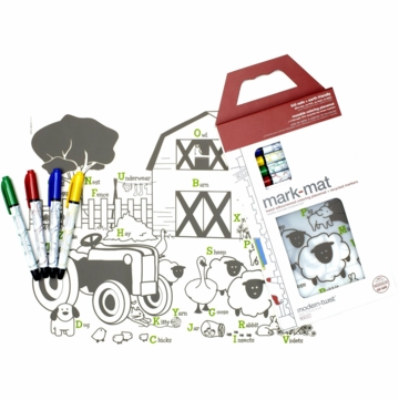 Modern Twist Farm Buddies Kidz Box with 4 Markers