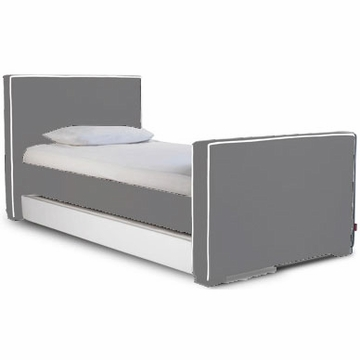 Monte Design Bed Trundle in Bonded Leather White