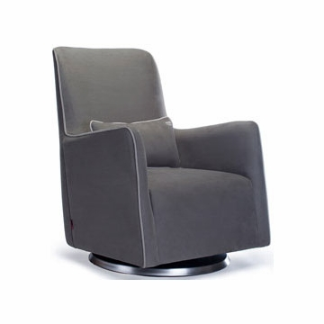 Monte Design Grazia Swivel Glider in Charcoal