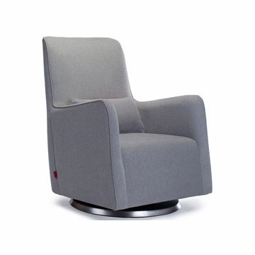 Monte Design Grazia Swivel Glider in Heather Grey