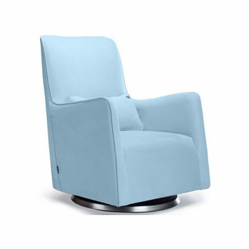 Monte Design Grazia Swivel Glider in Light Blue