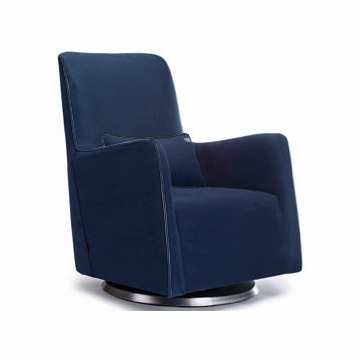 Monte Design Grazia Swivel Glider in Navy Blue