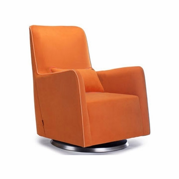Monte Design Grazia Swivel Glider in Orange