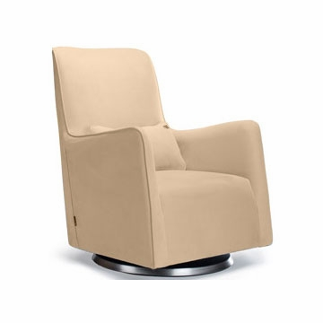 Monte Design Grazia Swivel Glider in Tan