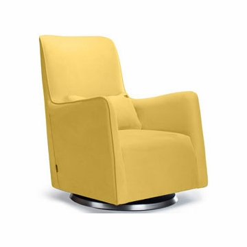 Monte Design Grazia Swivel Glider in Yellow