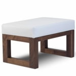 Monte Design Joya Ottoman in White Bonded Leather