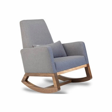 Monte Design Joya Rocker Walnut Base in Heather Grey